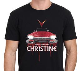 Wholesale Art Black Poster Print - Pop Cotton Tee Short Sleeve Top Crew Neck Mens 80'S John Carpenter Horror Classic Christine Poster Art Custom T Shirt