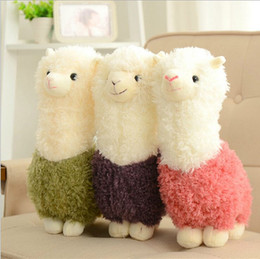 Wholesale Japanese Child Dolls - Kawaii Rainbow Alpaca Plush Doll Toys Cute Llama Alpacasso Stuffed Toys Japanese Stuffed Animals Doll Children Kids Gift