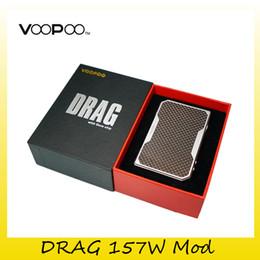Wholesale Control Super - Original VOOPOO DRAG 157W TC Box Mod Dual 18650 Battery Super Authentic Vape Ecig Mods Temperature Control Mod 100% Genuine 0207618
