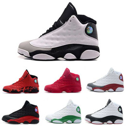 Wholesale Rubbers Get Blue - [With Box] Jumpman 2017 Cheap New air retro 13 XIII Mens Basketball Shoes red Bred He Got Game Black Sneaker Sport Shoes Online Sale US 8-13