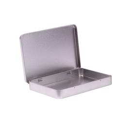 Wholesale Large Jewelry Storage - Metal Tin Box Photo Postcard Large Rectangle Classic Silver Jewelry Holder Storage Box 160*112*20mm Free Shipping ZA5069