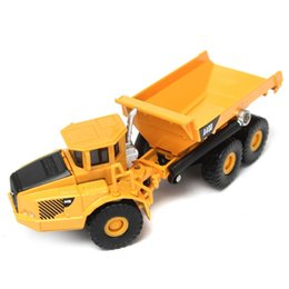 Wholesale Toy Wholesalers Dump Truck - 1:87 Scale Alloy Diecast Loading Unloading Dump Truck Construction Toys Vehicle Cars Model Kids Toy Gift