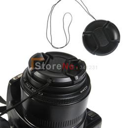 Filtros de lente de 55mm online-Wholesale-100pcs 55mm Center Pinch Snap en la tapa delantera de la lente para 55 mm lente / filtros