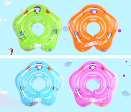 Wholesale Sound Inflatables - New swimming baby accessories swim neck ring baby Tube Ring Safety infant neck float circle for bathing Inflatable Newest Drop