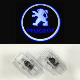Wholesale Peugeot Light Logo - For Peugeot Door logo light projector 2pcs set wireless Ghost Shadow welcome laser lamp For 508 408 308 3008 4008 5008 CRZ