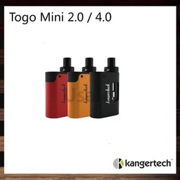 Wholesale Wholesale Red Cups - Kanger Togo Mini Starter Kit 2ml 4ml Capacity 1600mah Battery Symmetrical Air Flow Slim AIO Design Leak Resistant Top Fill Cup 100% Original