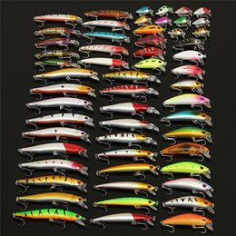 spinner hard bait lure Promo Codes - Bobing 56Pcs lot Almighty Mixed Fishing Lure Bait Set Wobbler Crankbait Swimbait With Treble Hook Minnow Bait Carp Fish Spinners