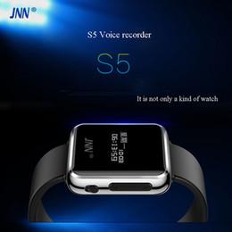 Commercio all'ingrosso- JNN S5 registratore vocale da 8 GB per la riunione dell'intervista MP3 WAV timestamp password spedizione gratuita da