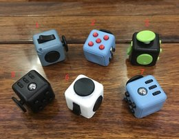 Wholesale Cube World Toys - 6 color 2017 new fidget cube Keychains the worlds first American decompression anxiety toys Keyring Free Shipping