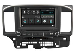 Wholesale Mitsubishi Car Stereo Gps - Navirider car dvd player for Mitsubishi Lancer new headunit stereo wince6.0 dual core 256MB Capactive touch 1080P DVR 3G WIFI TPMS GPS radio