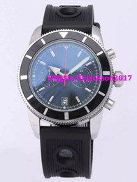 Wholesale Mens Clasp Belt - Luxury watch Mens superocean heritage 46 chronometer Date Quartz leather Sport Chronograph Watch Men belt floding clasp Dive Wristwatch