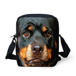 Wholesale Rottweiler Bag - Wholesale-Cute Kids Messenger Bag Casual Women Men Shoulder Bags Pug Dog Rottweiler Print Crossbody Bags for Girls Children Shoulder Bag
