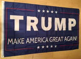Wholesale Usa Great - 50pcs 90*150cm Trump 3x5 Flag 2016 Make America Great Again Donald for President USA American 2016 Presidential Election Flags G127