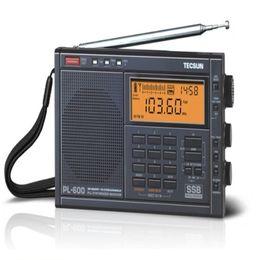 Wholesale Tecsun Radio Digital Portable - Wholesale-High Quality TECSUN PL-600 Digital Tuning Full-Band FM MW SW AIR PLL Stereo Radio Receiver with Clock