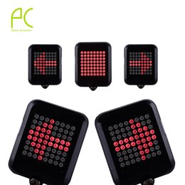 Wholesale Bicycle Turn Signals Led - Wholesale- PCycling Bicycle Intelligent Turn Taillight Signal Light Brake Light Projection Lamp 64 LED Infrared Warning Light Accessories
