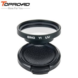 Wholesale mm UV Filter Lens Ring Lens Adapter Protective Lens Cap Cover For Xiaomi Yi Xiao Mi Yi Xiaoyi Spots Action Camera Accessories