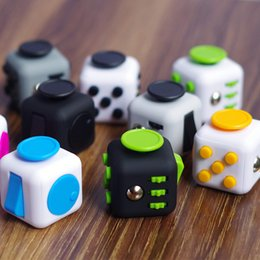 Wholesale First Movies - 11 color 2017 New Fidget cube the world's first American decompression anxiety Toys Free shipping