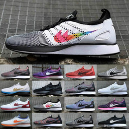 Wholesale 36 D - 2017 Wholesale Newest Air Zoom Mariah Fly Racer 2 Women Mens Athletic Shoes Black White Red AIR Zoom Racers Sneaker Trainers Size 36-45