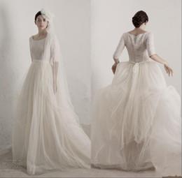vintage empire line wedding dresses