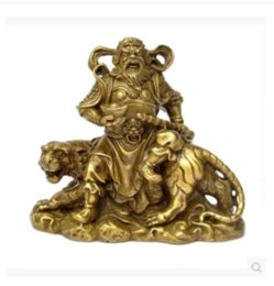 Wholesale Small Buddhas - Pure brass martial god of wealth Buddha home furnishing small articles
