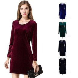 Wholesale Dress Korean Chiffon Fashion Woman - 2016 New Hot Korean Spring Dress Casual Elegant Dresses For Women 5 Colors Beautifull Fashion Slim Women Dress