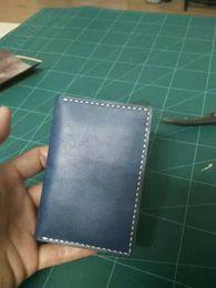 Canada Pochette de passeport d'art de travail manuel / protection de l'environnement végétale tannée première classe en cuir véritable carte personnelle tenir / carte de visite sac Offre