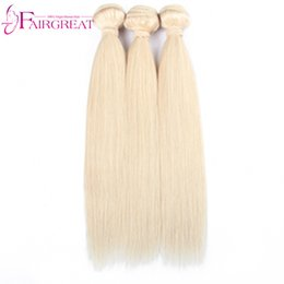 Wholesale Color 12 613 Hair - 613 Blonde Straight Human Hair 3Pcs Lot Brazilian Blonde Straight Human Hair Weave Unprocessed Top Quality 613 Color Brazilian Hair