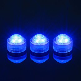 Wholesale Batteries Led Aquarium - LED Submersible Waterproof Tea Lights Candle underwater lamp with battery Wedding Party Indoor Lighting for fish tank pond Aquarium Decorati