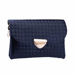 Wholesale Wholesale Designer Handbags Wallets - Wholesale- flama Women Weave Pattern Wallet Shoulder Messenger Bag Handbag Female Fashion Designer Quilted top-handle Bag Free Shipping2017