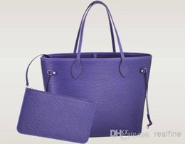 Wholesale Smooth Line - Women MM M40883 Purple Color Épi Cowhide Leather Top Handles Tote,Smooth Leather Trim,Calfskin and Microfiber Lining,Silver Hardware