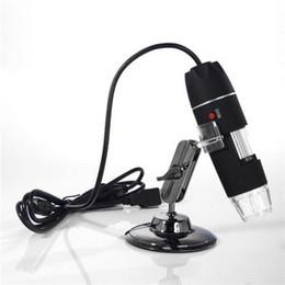 vidéo numérique Promotion Gros- 1 Set 8 LED USB 500X Microscope Endoscope Loupe Caméra Vidéo Numérique Microscopio Gratuit Shippnig
