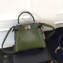 Wholesale Geniune Leather Handbag Women - Wholesale-2016 New Arrival Women Bag Fashion Design Handbag Luxury Brand Weave Bag Geniune Leather Shoulder Bag Lady Totes