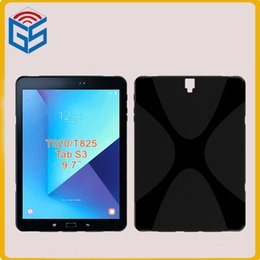 Wholesale Pink Sky Blue Purple Tablet - 2017 X Line Soft Gel TPU 9.7 inch Tablet Case Cover For Samsung Galaxy Tab S3 T825 T820
