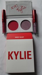 Wholesale Eyeshadow Lipgloss Palette - Brand New Kylie Valentines Kyshadow Eyeshadow palette Lipstick kit Eye shadow 2 Color Eye Shadow with lipgloss Comestic