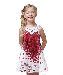 Wholesale Summer Love Princess Dress - BKS27 New Arrivals INSaby GIRL Red love petals no sleeve dress princess sexy INS dress