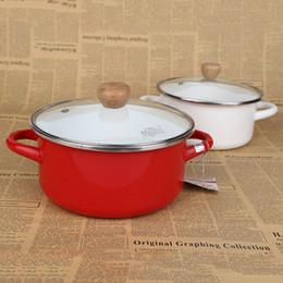 Wholesale Cookers Set - pots pans cookware ceramic pot soup pot soup cooker thermal cooker enamel buckets enamel pot Cooking Set