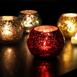 Wholesale Candle Happy - 2017 NEW High quality glass candlestick candle Ice Wedding decoration fashion Romantic plot ornaments Free shipping