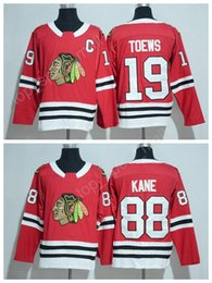 Wholesale New Style Fan - 2017 New Style 88 Patrick Kane 2018 Chicago Blackhawks Jerseys Ice Hockey 19 Jonathan Toews Jersey Red All Stitched For Sport Fans