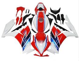 Corone di hrc online-Tre bellissimi regali gratuiti e nuove carenature ABS di alta qualità per HONDA CBR1000RR 2012-2016 set bel corpo bianco rosso blu HRC
