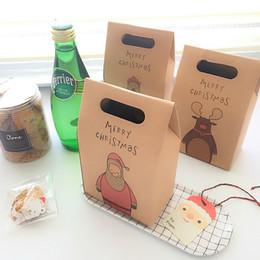 Papel de embrulho de maçãs on-line-Feliz Natal Embalagem Caixa de Doces Partido Bolo Caixa De Papel De Sobremesa Festival Presente Envoltório Véspera de Natal caixa de maçã