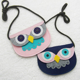 Wholesale Handmade Fabric Bags - Animal Shape Baby Toys Owl Style Handmade Non-woven Fabric Patch DIY Children Mini Bags Kids Girl Toy Bag Small Pouch Plush Bags