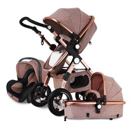 Wholesale Lightweight Prams Strollers - Wholesale- Baby Stroller Landscape stroller for baby Easy Carry Foldable Pram Baby Carriage newborn Portable Lightweight Travel Strollers