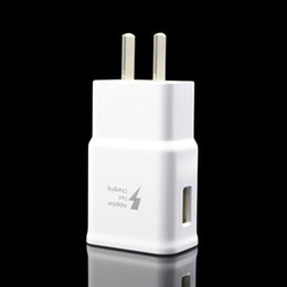 Wholesale Ups Plug Charger - Adaptive Fast Charger for Samsung Galaxy S8 S8 Plus S7 S7 edge S6 edge Plus US Plug Wall Travel Charger 100pcs up