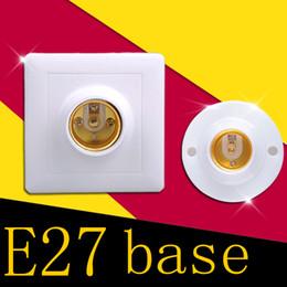 Wholesale Plastic Spotlights - Wholesale E27 Holder Socket Screw E27 Base Lamp Plastic Sockets Fitting For Lights Bulb Spotlight Lighting Square Round 220V