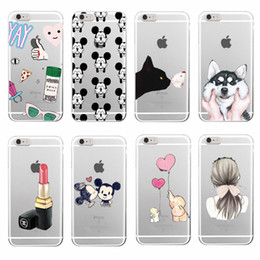 Wholesale Wholesale Best Iphone 4s Cases - Lovely Animal Two Girls Best Friends Transparent TPU Cover Case for iPhone 4 4s 5 5s 5c 6 6s Plus Samsung