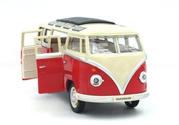 Wholesale Toy Buses American - American bus toy alloy car model sound and light toys alloy bus