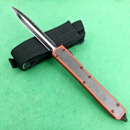 Wholesale Makora II Ant Ant II carbon fiber handle double edged edge Folding Pocket Knife Survival Knife Xmas gift Benchmad freeshipping
