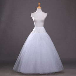 Wholesale Tulle Skirt Wedding Gown - Adjustable Size Soft Tulle Ball Gown Bridal Petticoat 2017 4 layers Skirt Wedding Petticoats