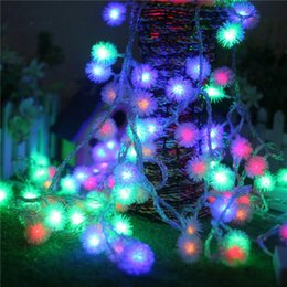 All'ingrosso-Impermeabile 10M ha condotto la luce della stringa AC110V 220V edelweiss 80leds ghirlanda luci stringa 8modi vacanza luce festa di natale decorare supplier decorated garland da ghirlanda decorata fornitori