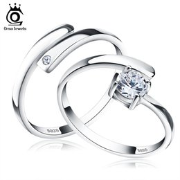 Wholesale Settings For Jewellry - 925 Silver Ring Set with CZ Fine Jewellry for Women Men 2017 New Resizable Real 925 Sterling Silver Jewelry SR22